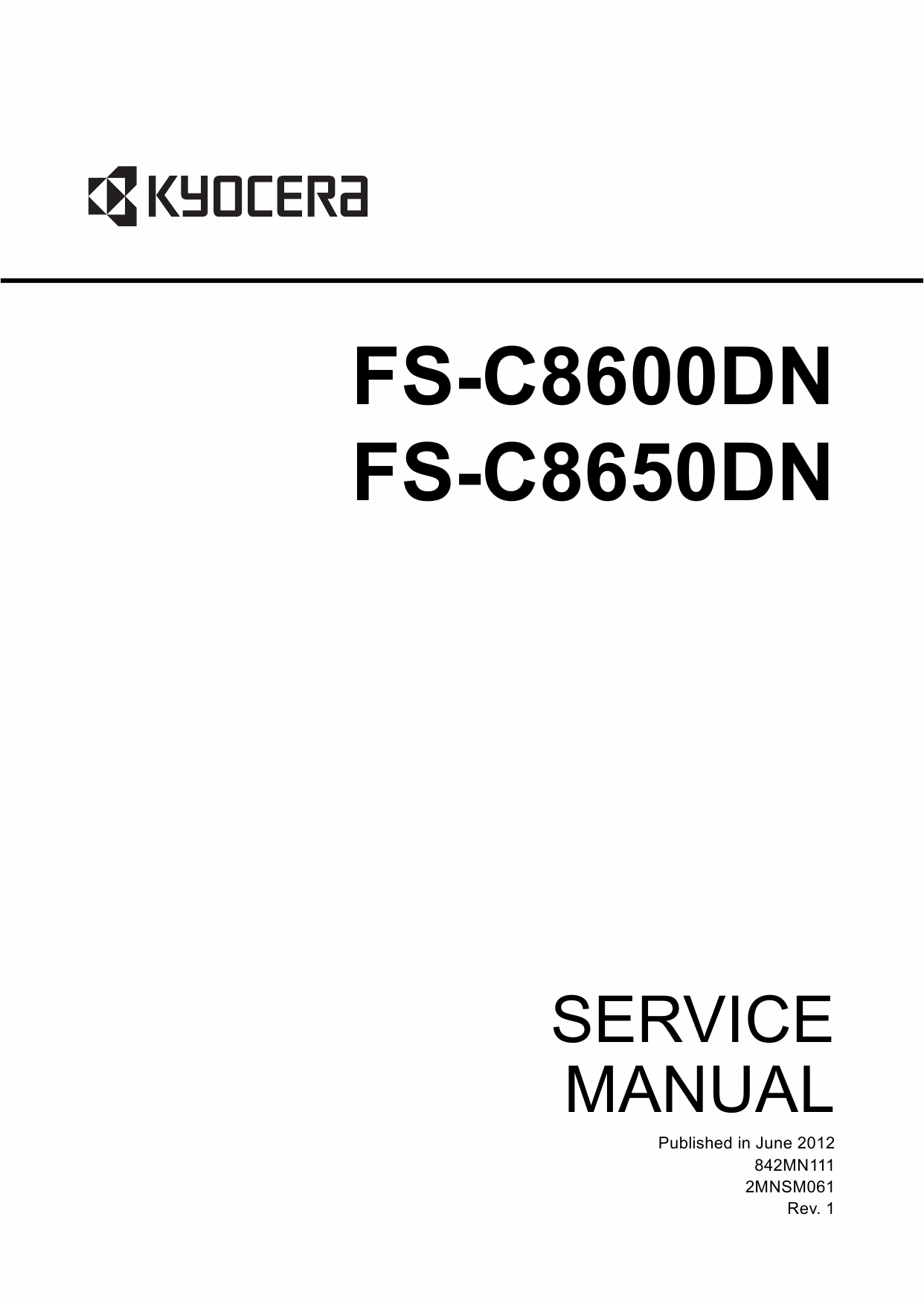 KYOCERA ColorLaserPrinter FS-C8600DN 8650DN Service Manual-1
